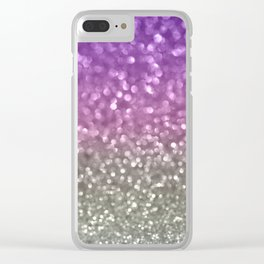 Lilac and Gray Clear iPhone Case