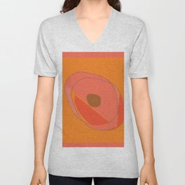 Abstract Avocado Unisex V-Neck