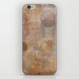 Decorative Vintage Circles Texture iPhone Skin