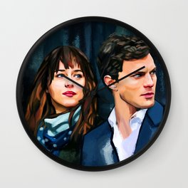 Fifty Shades of Grey Wall Clock