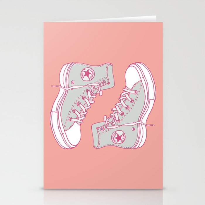 Canvas Shoes Stationery Cards