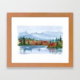 Mirror Lake in Autumn Framed Art Print