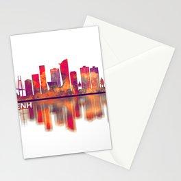 Phnom Penh Cambodia Skyline Stationery Cards