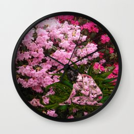 Rhododendron Spirit Wall Clock