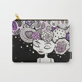 Cosmic girl with a planet in her hands universe creation illustration print art creepy cute pretty Carry-All Pouch