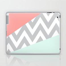 Original Mint & Coral Chevron Block Laptop & iPad Skin