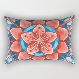 Frosted Cherry Blossom Rectangular Pillow