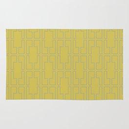 Simply Mid-Century Retro Gray on Mod Yellow Rug