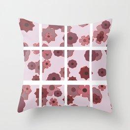 Geometric flower blocks Throw Pillow