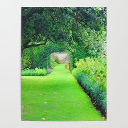 British country garden Poster