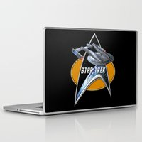 akira Laptop & iPad Skins featuring StarTrek Akira  Command Signia Chest by Jamie Fontaine