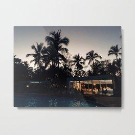 Grand Paradise Pool At Night Metal Print