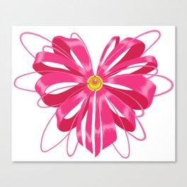 Sailor Moon Ribbon Heart Canvas Print