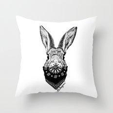 Animal Bandits - Bunny Throw Pillow