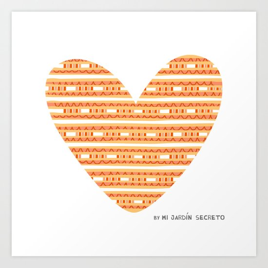 CORAZON (naranja) Art Print