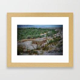Hacienda in the Desert Framed Art Print