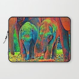 AnimalColor_Elephant_001_by_JAMColors Laptop Sleeve