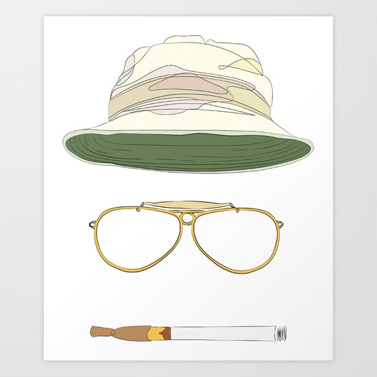 Movie Icons: Fear and Loathing in Las Vegas Art Print