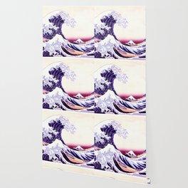 The Great wave purple fuchsia Wallpaper