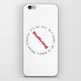 Stop Bullying-Outline iPhone Skin