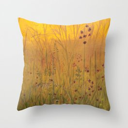 Yellow Sunset Throw Pillow