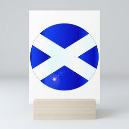 Scotish Flag Button Mini Art Print