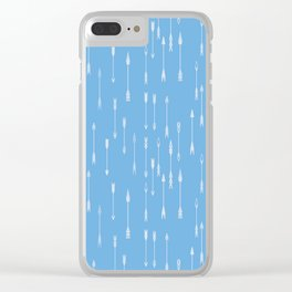 a lot of colored arrows Clear iPhone Case