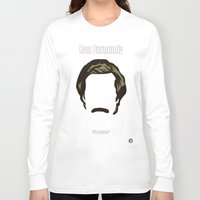 anchorman Long Sleeve T-shirts featuring Ron Burgundy: Anchorman by BC Arts