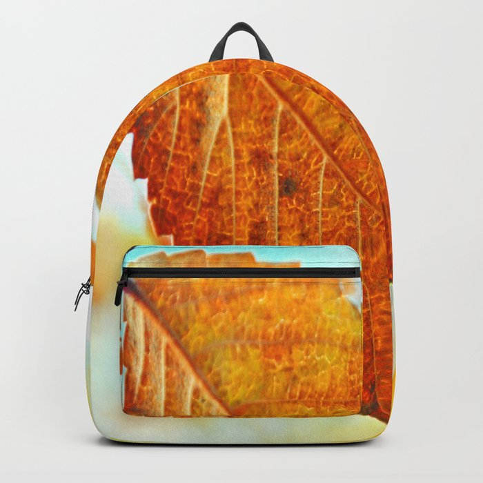 Orange Leaf Backpack