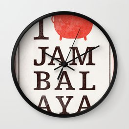 I Heart Jambalaya Wall Clock