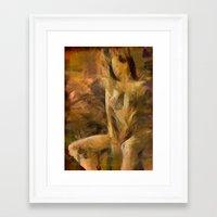 tina crespo Framed Art Prints featuring tina by Darynthe