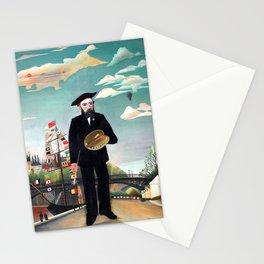 Henri Rousseau - Moi-même, Portrait-paysage - Autoportrait - Self Portrait Stationery Cards