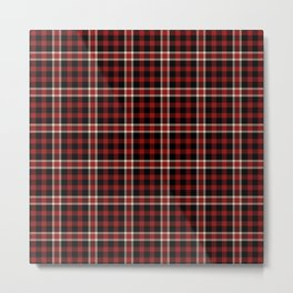 Old School Plaid 4 Metal Print