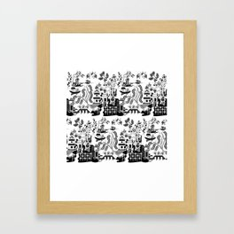 Goo Willow: Black on White Framed Art Print