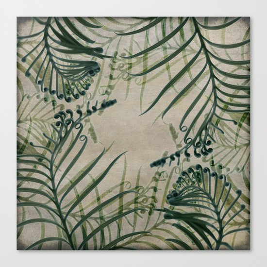 Cycas Leaves Abstract Canvas Print