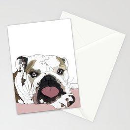 English Bulldog Love Stationery Cards