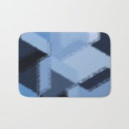 Warm Blue Fuzzies Bath Mat