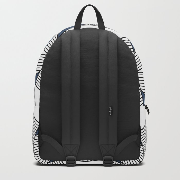 Triangle Tribal #2 Navy Backpack