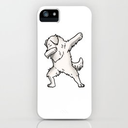 Funny Dabbing Great Pyrenees Dog Dab Dance iPhone Case