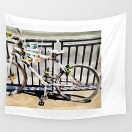 White Bike Wall Tapestry