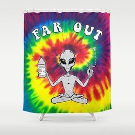 Far Out Alien (Tie Dye) Shower Curtain