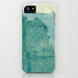 Florida State Map Blue Vintage iPhone Case