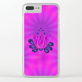 Born of Lotus Abstract Art Clear iPhone Case