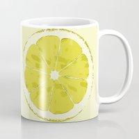 lemon Mugs featuring Lemon by Avigur