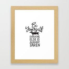Be Yourself Daschund Framed Art Print