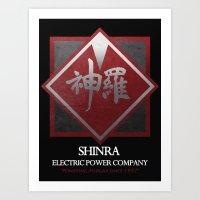 Final Fantasy VII: Shinra Powering Midgar Art Print