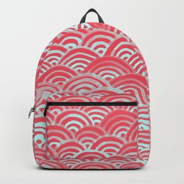 Watercolor Waves - Guava Mint Backpack