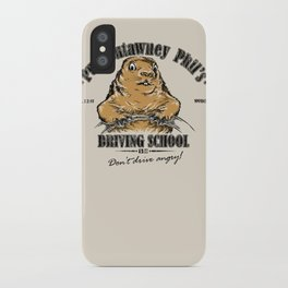 Punxsutawney Phil's Driving School iPhone Case