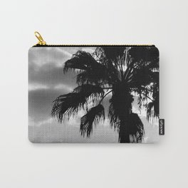 Palm Trees In Black And White Carry-All Pouch