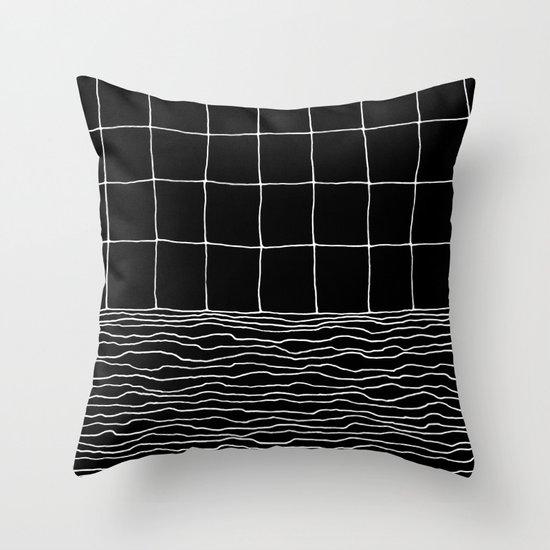 Hand Drawn Grid Throw Pillow